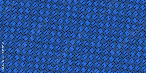 Seamless abstract blue hand drawn pattern