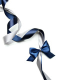 Fototapety Color gift satin ribbon bow, isolated on white