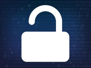 cadenas ouvert - sécurité informatique