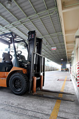 forklift in the factory.
