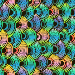 Abstract gradient seamless background with fish scales. Eps10