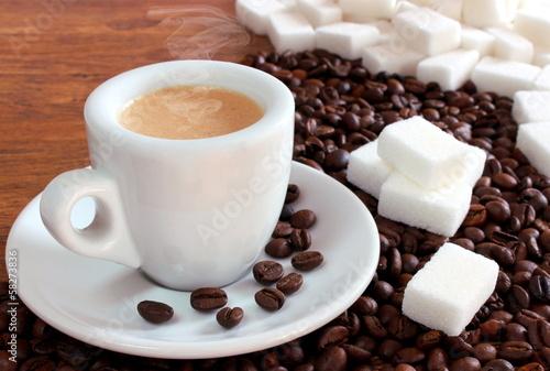 Fotobehang Cafe Caffè zuccherato