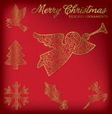 Christmas filigree ornament set in vector format. poster