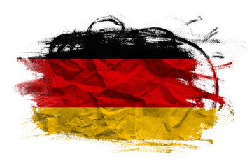 Germany flag on Crumpled paper texture