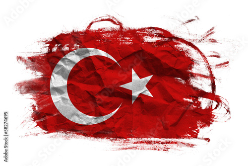 Turkey grunge flag