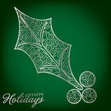 Elegant filigree Christmas card in vector format. poster