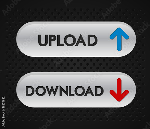 upload and download icons set