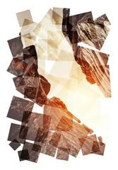sun rock collage