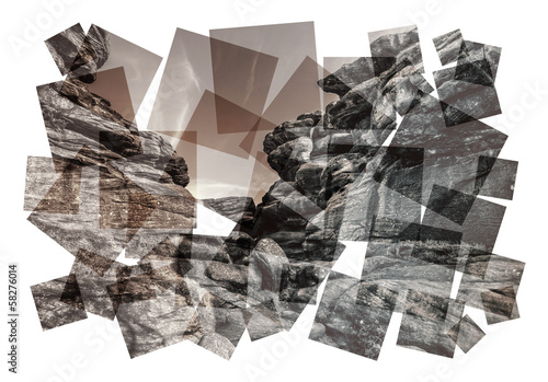 abstract rock collage