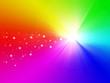 Christmas star on rainbow background