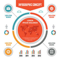 Infographic Concept - Vector Scheme with Icons