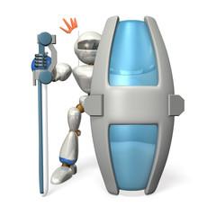 Ironclad guard robot