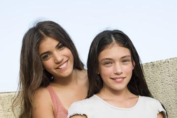 retrato de dos chicas