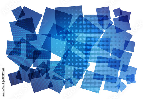 blue graphic composition