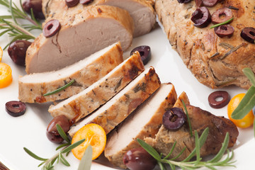 Sliced Roast Pork Tenderloin