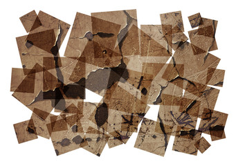 brown textured collage