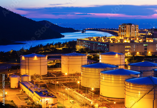 Oil tanks for cargo service at night