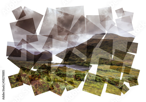 scottish highlands collage