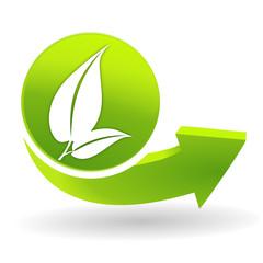 nature sur symbole vert