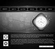 Website template presentation watch bright colorful vector