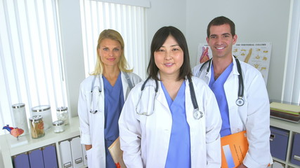 Team of doctors smiling in the office