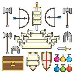 Fantasy Symbols and Scrolls