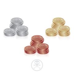 Pirate Coins Three Columns