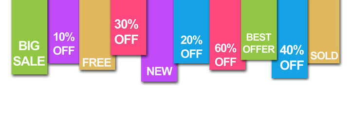 Colourful Stripe Banner Sale