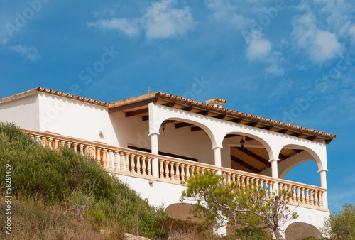canvas print picture mallorca haus in porto cristo