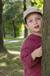 Child at park or forest