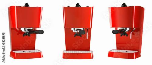 red espresso machine