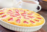pie with strawberry