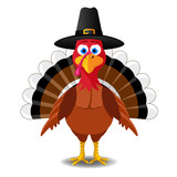 Vector illustration of Thanksgiving turkey