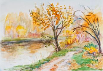 Watercolor September