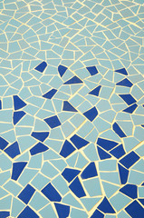 Blue and White Texture Mosaic