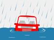 車 洪水 - 58283051