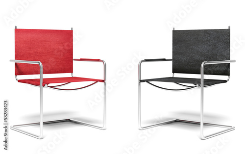 Two office chairs, business concept