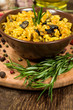 mushroom risotto with rosemary