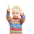Leinwanddruck Bild - Kind hält beide Daumen hoch