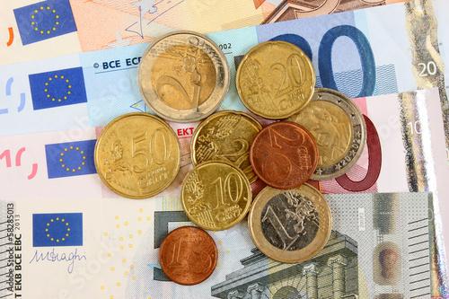 Pièces et billets européens