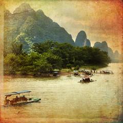 Guilin karst mountains landscape