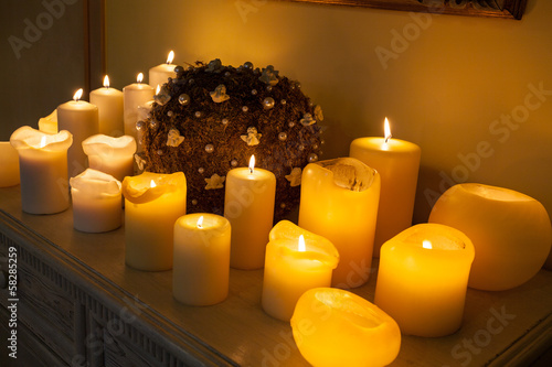 Plenty of lighted candles