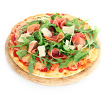 Pizza with rocket and prosciutto ham