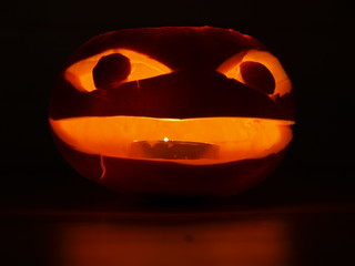 kürbiskopf nachts, halloween