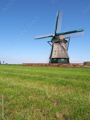 Windmill at Beemster Polder, Netherlands