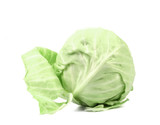 Whole green cabbage.