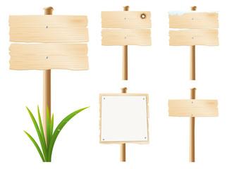Panneaux Bois x5