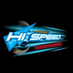 Hi Speed Concept vector