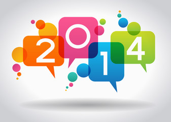 Vector 2014 Happy New Year background.