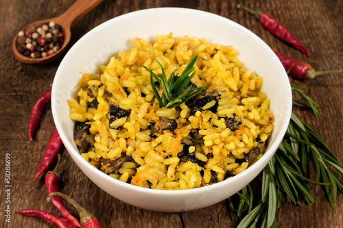 mushroom risotto with herbs